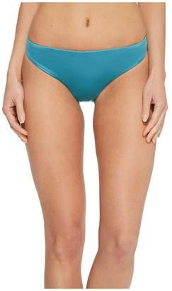 THE BIKINI LAB Solid Cinched Back Hipster Bikini Bottom Women's Swimwear