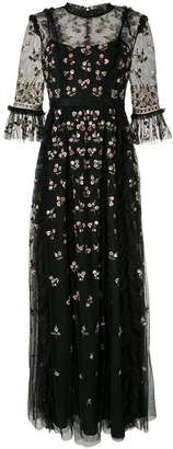 Needle & Thread embroidered floral gown