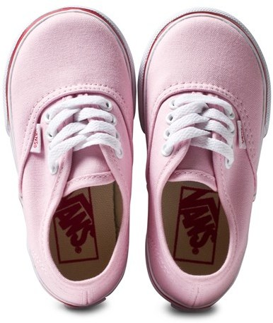 Vans Pink Heart Tape Sole Authentic Infants Trainers