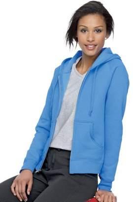 Hanes W280 Ecosmart Cotton-Rich Full-Zip Hoodie Women Sweatshirt Size 2 Extra Large, Carolina Blue