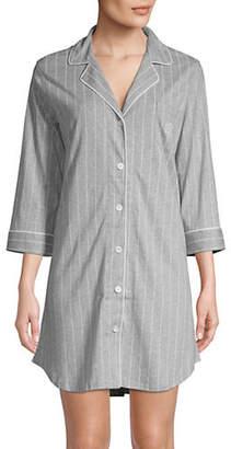 Lauren Ralph Lauren Dotted Notch Collar Sleepshirt