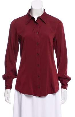 Prada Long Sleeve Button-Up Top