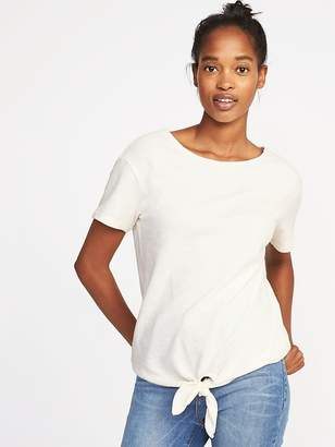 Old Navy Relaxed Tie-Front Top for Women