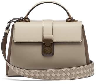 Bottega Veneta Piazza Small Leather Bag - Womens - Grey Multi