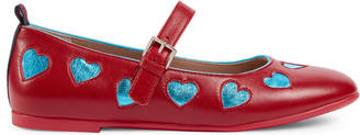 Children's leather hearts ballet flat $420 thestylecure.com