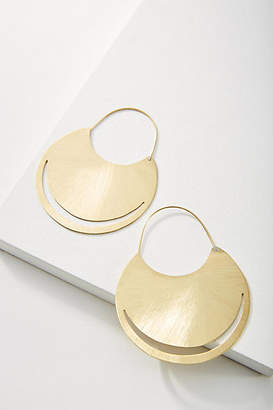 Anthropologie Anastasia Round Hoop Earrings