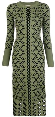 Temperley London patterned knit dress