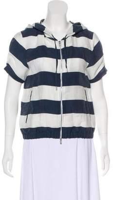 Armani Collezioni Hooded Linen Jacket