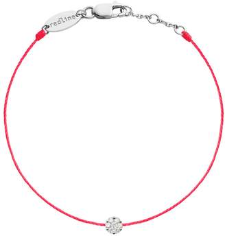 Redline Single Illusion Diamond Fluor Rouge Bracelet - White Gold