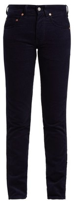 Holiday Boileau - Slim Fit Cotton Corduroy Trousers - Womens - Navy