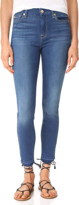 7 For All Mankind B(air) Skinny Jeans with Released Hem $189 thestylecure.com