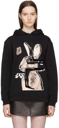 McQ Black and Pink Glitch Bunny Classic Hoodie