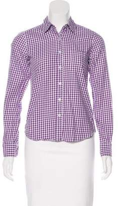 Steven Alan Gingham Long Sleeve Button-Up Top
