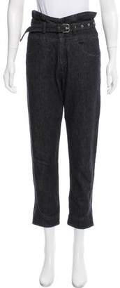 Isabel Marant High-Rise Straight-Leg Jeans
