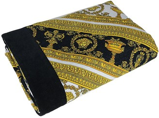 Versace I Heart Baroque Printed Beach Towel
