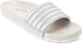 J/Slides Silver Eppie Metallic Slide Sandals