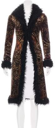 Betsey Johnson Printed Long Coat