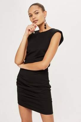 Topshop Shoulder pad mini bodycon dress
