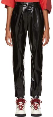 MSGM Black Vinyl Pants