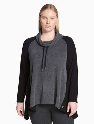 Calvin Klein plus size performance colorblock cowl neck top