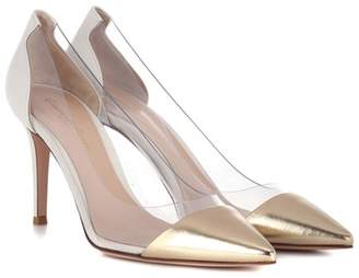 Gianvito Rossi Exclusive to mytheresa.com – Plexi 85 leather pumps