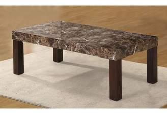 Red Barrel Studio Mccullum Faux Marbelized Granite Coffee Table
