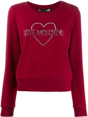 Love Moschino embellished logo sweatshirt