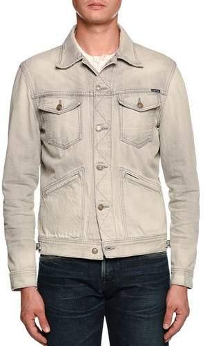 TOM FORD Gray-Washed Denim Jacket