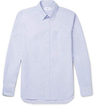 Mr P. Slim-Fit Button-Down Striped Cotton Shirt
