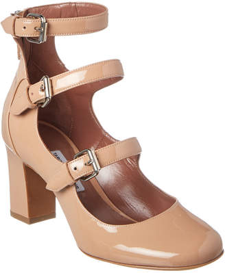 Tabitha Simmons Ginger Triple-Strap Patent Leather Mary Jane Pump