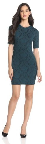 Eight Sixty Women's Rose Baroque Knit Fitted Dress