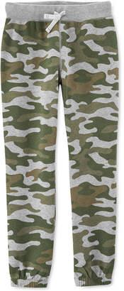 Carter's Little & Big Boys Camo-Print Fleece Jogger Pants