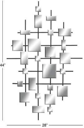 Zipcode Design Dot Abstract Metal Accent Mirror