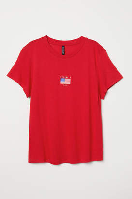 H&M T-shirt with Motif - Red