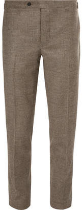 Thom Sweeney Grey Brook Slim-Fit Houndstooth Wool And Cashmere-Blend Suit Trousers