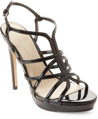 Marc Fisher Black Jaslyn Patent Strappy Platform Sandals