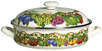 Tabletops Unlimited Kensington Garden Porcelain Enamel 4 Qt Covered Low Casserole