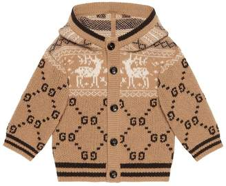 Gucci Kids Baby GG reindeers wool cardigan