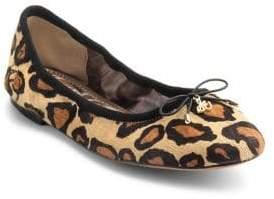 Sam Edelman Felicia Leopard-Print Leather Flats