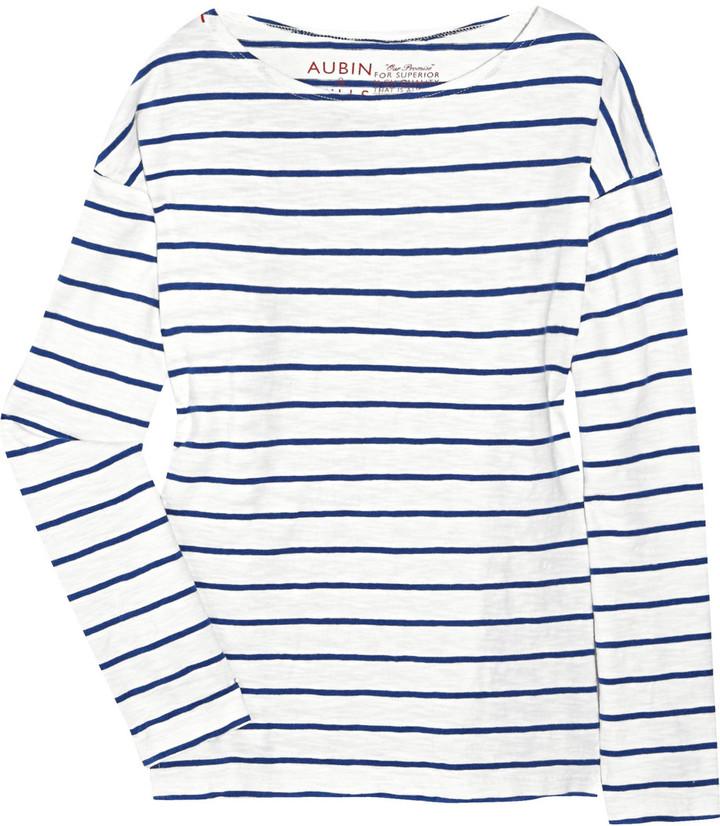 Aubin & Wills Thornville striped cotton top