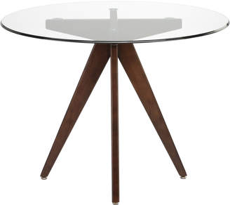 Webster Temple & 100cm Round Clear Top Dining Table