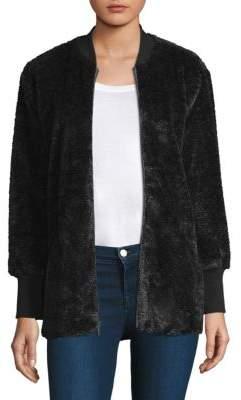 Splendid (スプレンディッド) - Splendid Rib Faux Fur Jacket