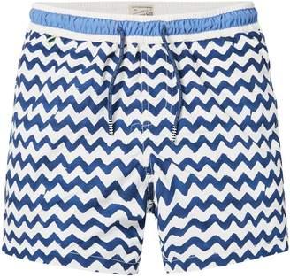 Scotch & Soda Wave Print Swim Shorts Medium length
