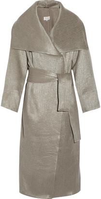Maison Margiela - Oversized Metallic Wool-blend Coat - Mushroom $2,960 thestylecure.com