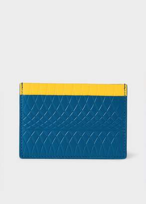 Paul Smith No.9 - Blue Leather Card Holder With Multi-Coloured Card Slots