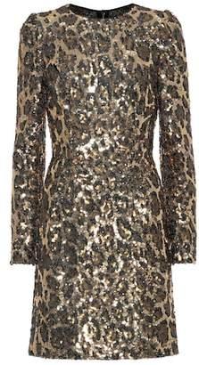 Dolce & Gabbana Sequined leopard minidress