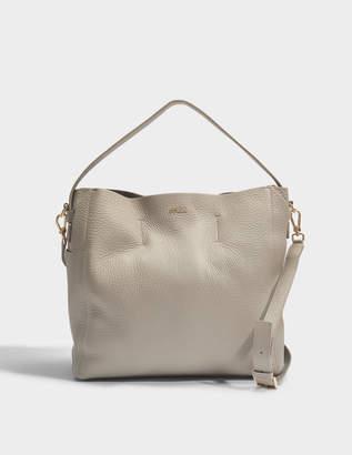 Furla Capriccio Medium Hobo Bag in Grey Calfskin