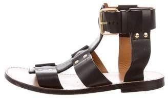 Chloé Stud-Embellished T-Strap Sandals