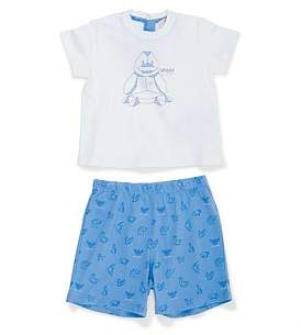 Armani Junior 2Pc Logo Tee/Short In Bag