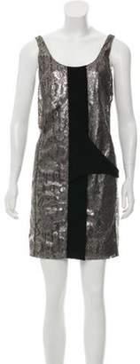 Balenciaga Lace Shift Dress Metallic Lace Shift Dress